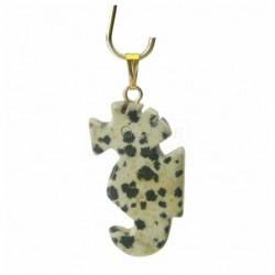 Jaspe dalmatien, pendentif hippocampe