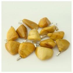 Pendentif quartz doré