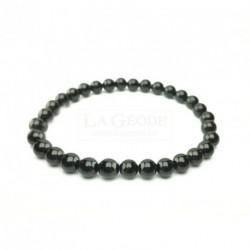 Bracelet tourmaline noire 6 mm