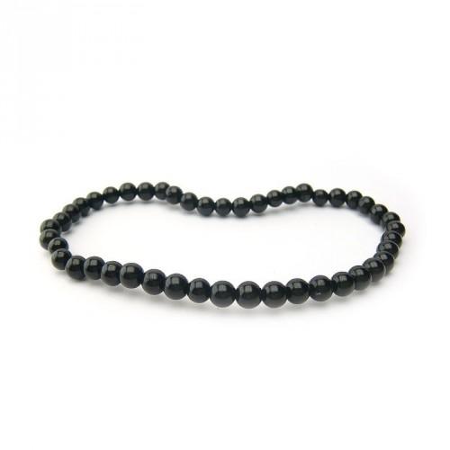 Bracelet tourmaline noire 4 mm
