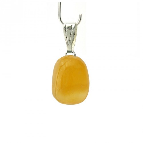 Pendentif calcite orange extra