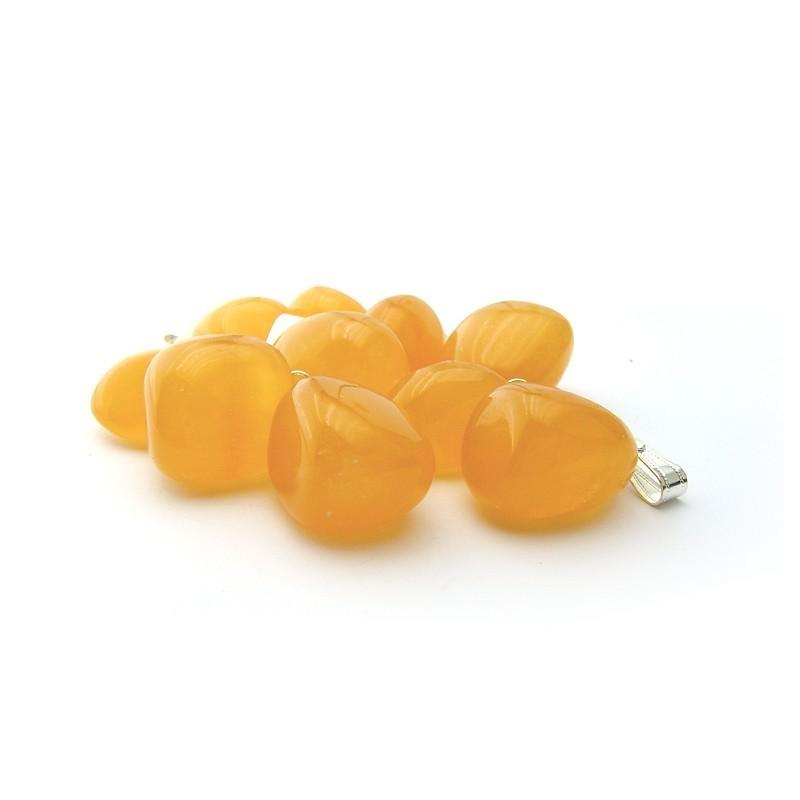 Pendentif calcite orange extra