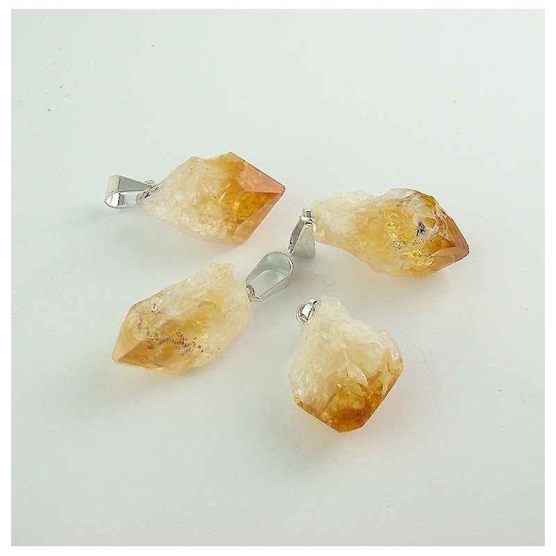 Pendentif citrine cristal