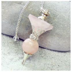 Pendule 1 pyramide quartz rose 4