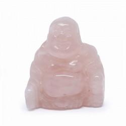 Bouddha en quartz rose