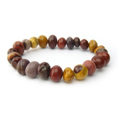 Bracelet pierre roulées mokaïte