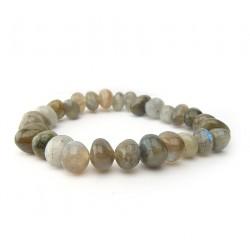 Bracelet pierre roulées labradorite