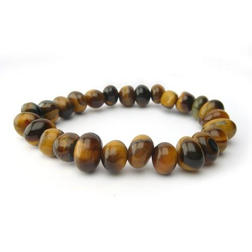 Bracelet pierres roulées oeil de tigre