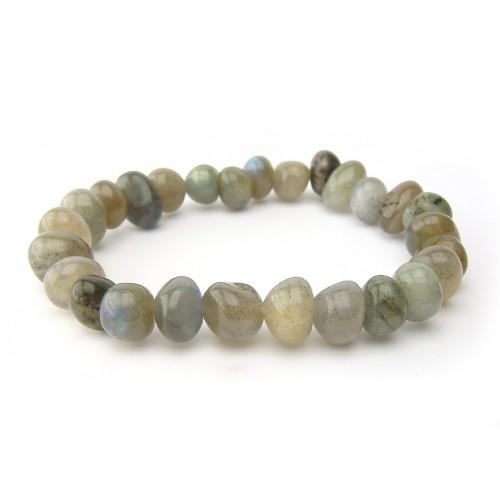 Bracelet pierres roulées labradorite