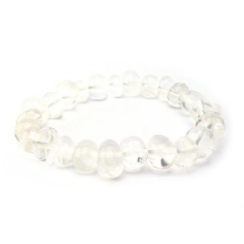 Bracelet pierres roulées cristal de roche