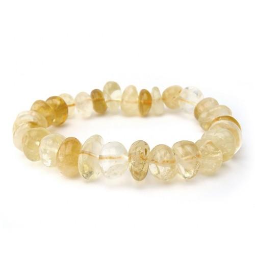 Bracelet pierres roulées citrine