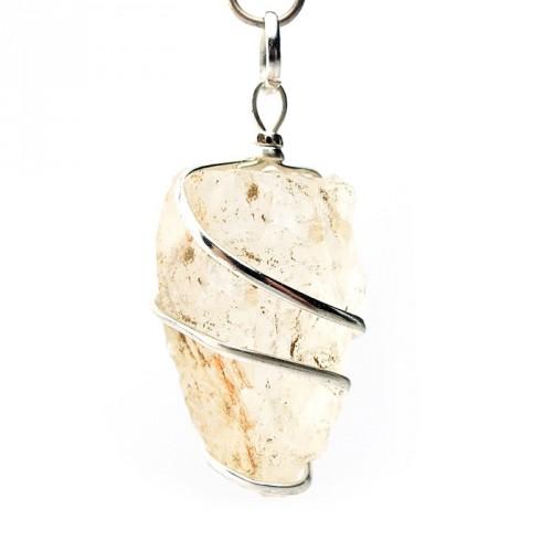 Pendentif pointe brute cristal de roche