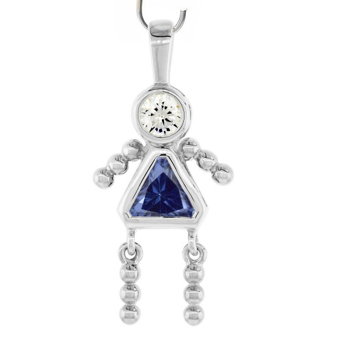 "Pendentif ""little girl"" - SEPTEMBRE"
