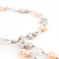 Collier en perles de culture et cristal de roche