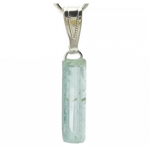 Pendentif aigue-marine cristal