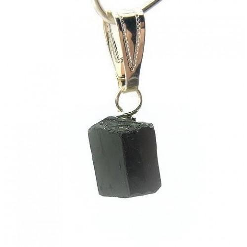 Pendentif tourmaline noire cristal