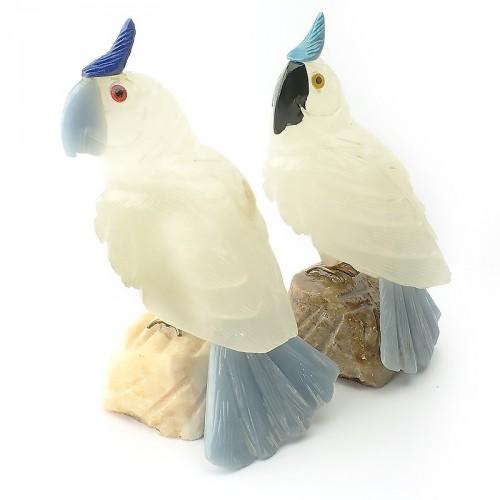 Perroquet en pierre sculpée, à l'unité