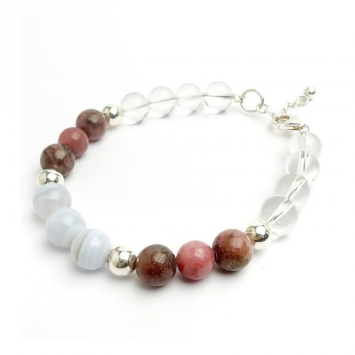 "Bracelet ""anti-stress"" en pierre 8 mm"