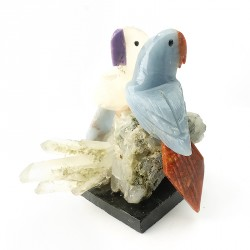 Perroquet en pierre sculptée, à l'unité