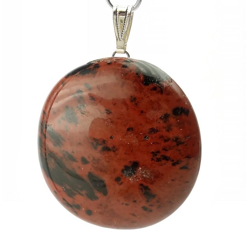 Pendentif obsidienne mahogany, Jumbo