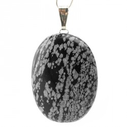 Pendentif obsidienne neige, Jumbo