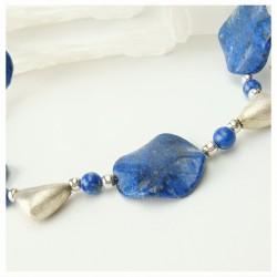 Collier en pierre lapis lazuli et argent 925