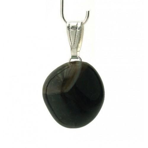 Pendentif agate noire