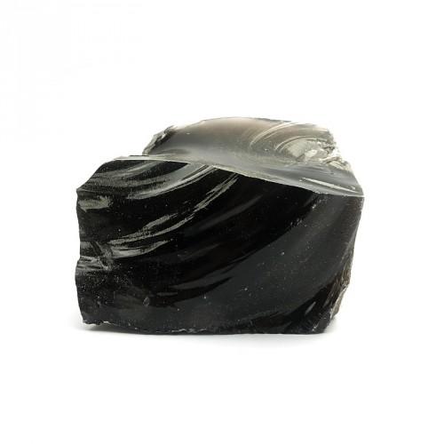 Obsidienne noire, morceau brut