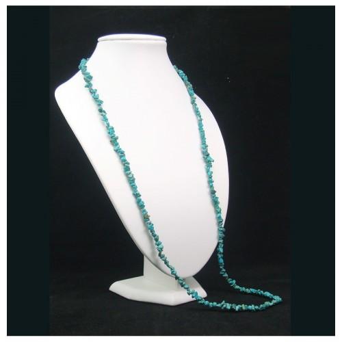 Collier baroque véritable turquoise 90 cm