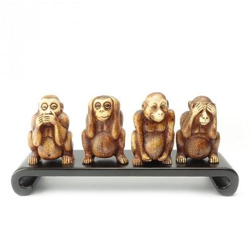 Les 4 singes de la sagesse