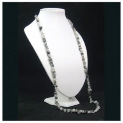 Collier baroque quartz tourmaline 90 cm