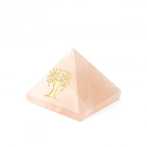 """Pyramide quartz rose """"arbre de vie"""""""