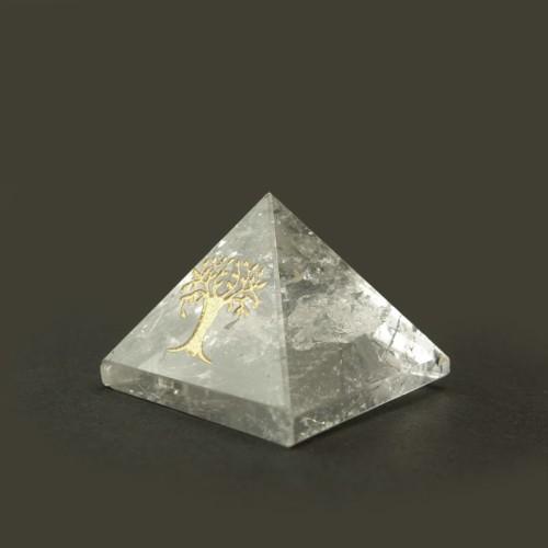 """Pyramide cristal de roche """"arbre de vie"""""""
