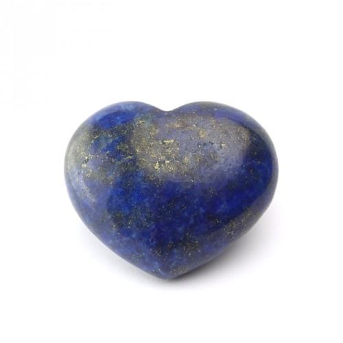 Coeur bombé en lapis lazuli 35 mm
