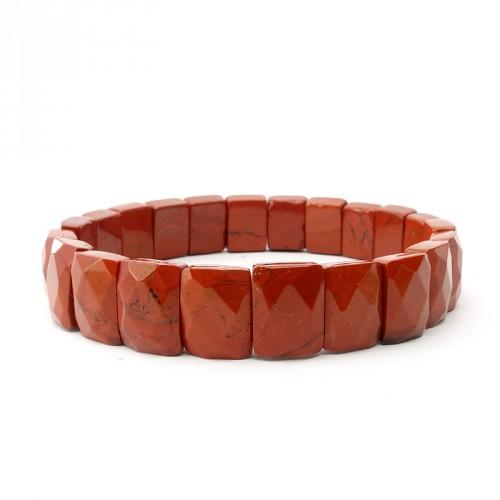 Jaspe rouge, Bracelet plaques facettées