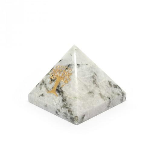 """Pyramide pierre de lune """"arbre de vie"""""""