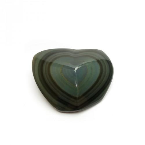 Coeur en obsidienne oeil céleste