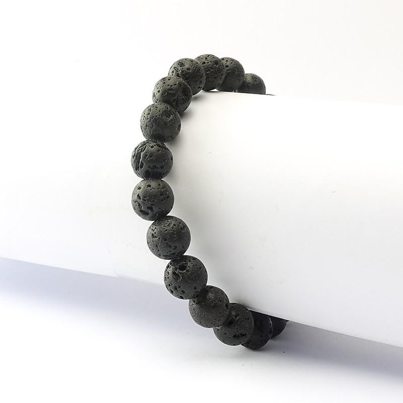 Bracelet lave 8 mm sur élastique