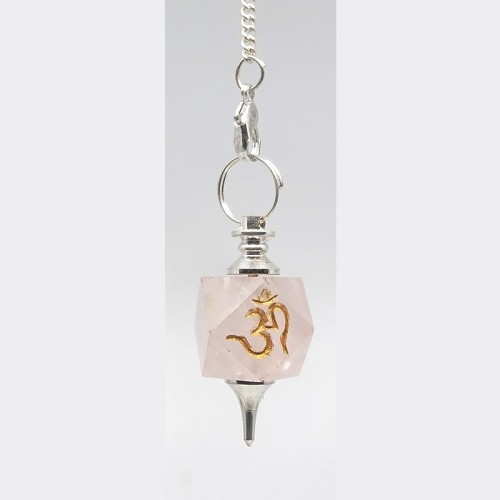 Pendule OM en Quartz Rose