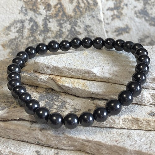 Bracelet extensible shungite 6 mm