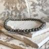 Bracelet en pyrite 4 mm extensible