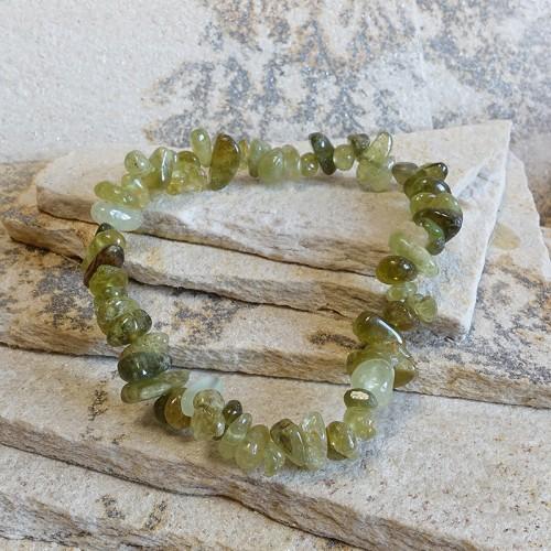 Bracelet baroque grenat grossulaire