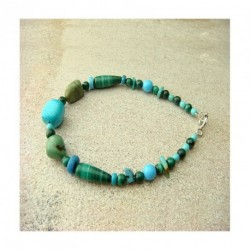 Bracelet turquoise et malachite