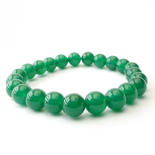 Bracelet extensible agate verte