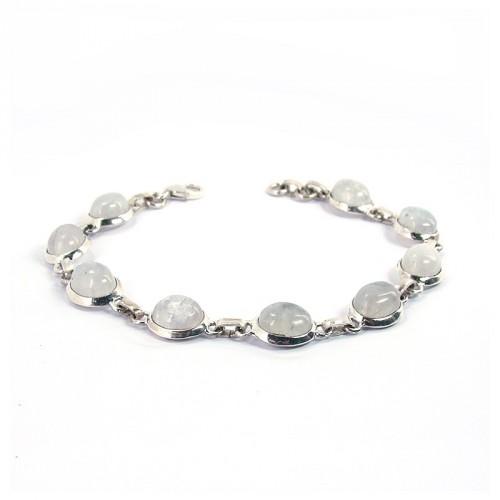 Bracelet pierre de lune et argent 925