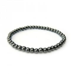 Bracelet hématite 4 mm