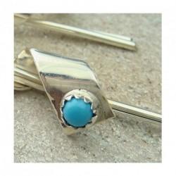 """Boucles d'oreilles """"spirales"""" argent 925 et turquoise"""