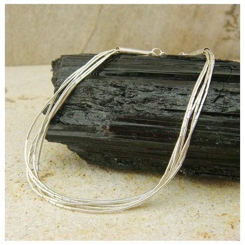 "Bracelet ""liquid silver"" 5 rangs"