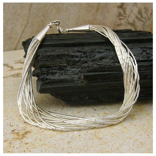 "Bracelet ""liquid silver"" 15 rangs"