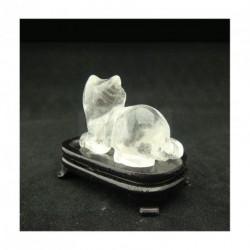 Chat en cristal de roche